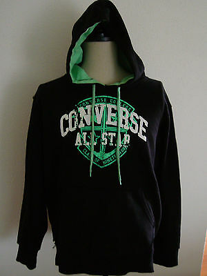 BLACK CONVERSE ALL STAR – HOODIE, TOP, SWEATER - Excellent Condition XL