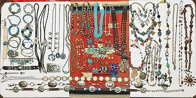 Wholesale Lot Of 59 Vintage Native American / Southwest Style Turquoise Items