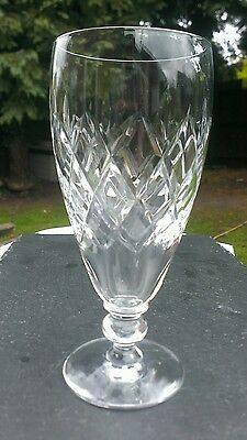 Webb corbett crystal, Rolleston cut lager glass, signed, c1964, 16cm tall.