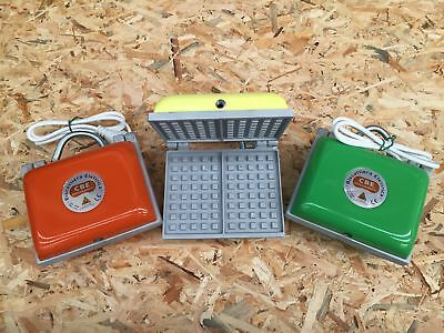 NEW Pizzelle (Waffle) Deep Maker - 2 Section - Electric - COLOURED