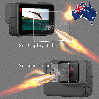 2psc LCD Screen Lens Tempered Glass Film Screen Protector For GoPro Hero5 Camera