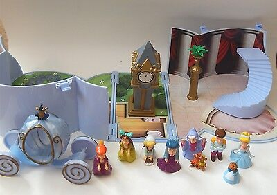 Disney Cinderella Heart Shape Playcase With Figures