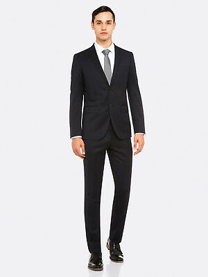 New Oxford AUDEN WOOL SUIT TROUSER BLK X in BLACK