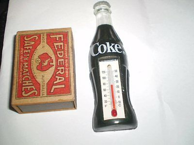 Mini Coca Cola bottle bottle shaped thermometer - 10 cms high