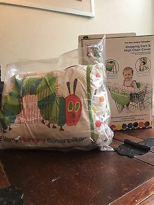 New Baby Boy Girl Eric Carle Hungry Caterpillar Shopping Cart & High Chair Cover