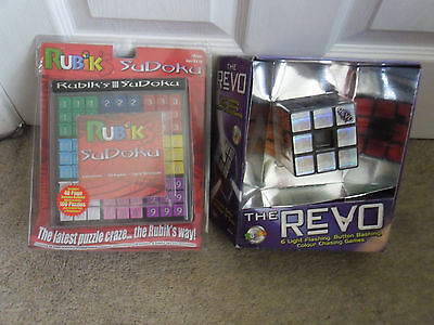 2 Rubiks Puzzles - The Revo & Rubiks Sudoku in VG Unused Condition