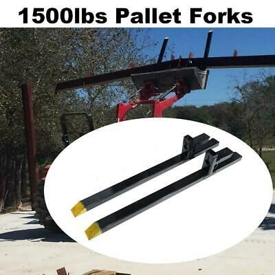 60'' 1500lb Clamp on Pallet Forks for Loader Tractor Bucket Skidsteer Heavy Duty
