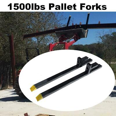 60'' 2000lb Clamp on Pallet Forks for Loader Tractor Bucket Skidsteer Heavy Duty