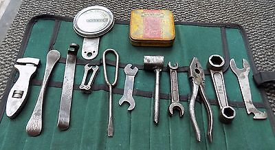 Tool Kit For Bsa M20,gold Star Pliers,spanners,tyre Levers,tax Disc Holder Etc