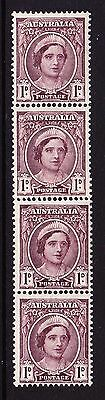 AUSTRALIA 1942-50 1d BROWN-PURPLE COIL PAIR WITH JOIN SG 203a x2 MINT/ MNH.