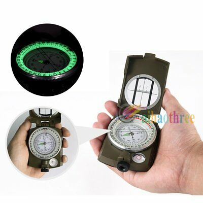 Metal Noctilucent Waterproof Shockproof Pocket Compass Outdoor Camping Hiking