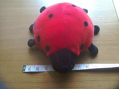 TY Beanie BUDDY LUCKY Ladybird Ladybug Soft Plush Toy New without Tags