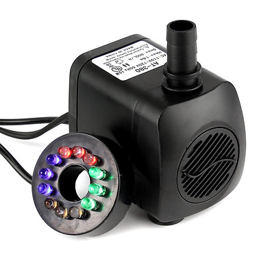 Submersible Water Pump,SOONHUA Submersible Pump with LED Light for Aquarium Fish