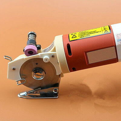 New 65mm Blade Electric Round Knife Cloth Cutter Fabric Cutting Machine 110V