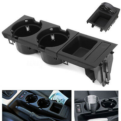 Center Console Drink Box + Cup Tray Holder Coin Storage For BMW E46 323i 325i
