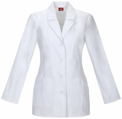 "Dickies EDS 84405 Women's 28"" Lab Coat Medical Uniforms Scrubs"