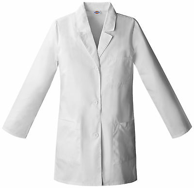 "Dickies EDS 84400 Women's 32"" Lab Coat Medical Uniforms Scrubs"