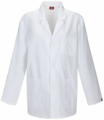 "Dickies EDS Mens 81404AB Men's 31"" Men's Lab Coat Medical Uniforms Scrubs"