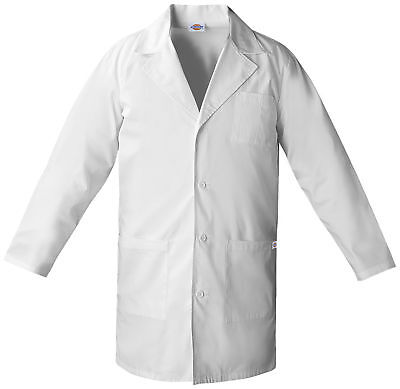 "Dickies EDS 83402 Unisex 37"" Unisex Lab Coat Medical Uniforms Scrubs"