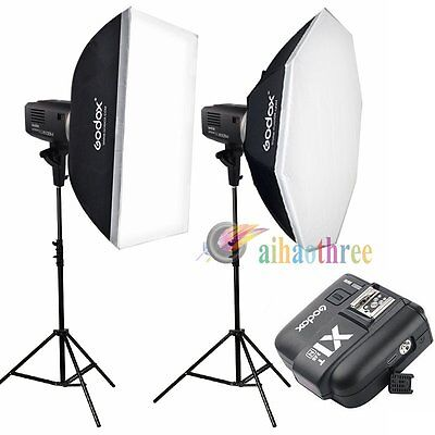 Godox AD600BM 2x600W HSS 1/8000s Bowens Mount Flash Light Trigger Kit For Nikon