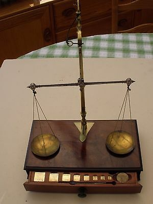 Antique Apothecary Beam Scales. Superb Bespoke Weights