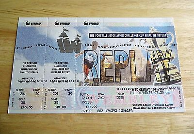 1993 FA Cup Final Replay Arsenal v Sheffield Wednesday Unused Ticket