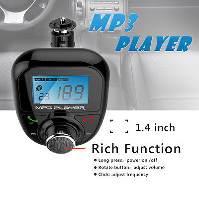 Bluetooth MP3 Player FM Transmitter Modulator USB LCD Car Kit  Wireless Remote
