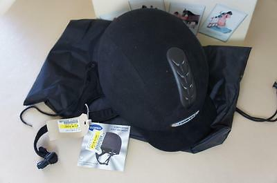 Champion dark navy blue riding hat X-Air size 6½ - new, boxed with tags