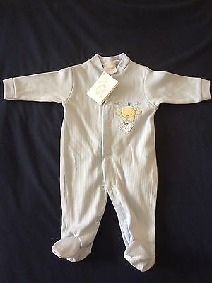 Baby Boys BNWT Pale Blue Baby Gro 0-3 Months By Dandelion