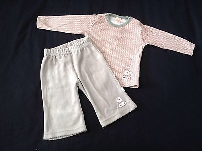 Baby Girls 0-3 Months Grey Trousers & Spotty Top