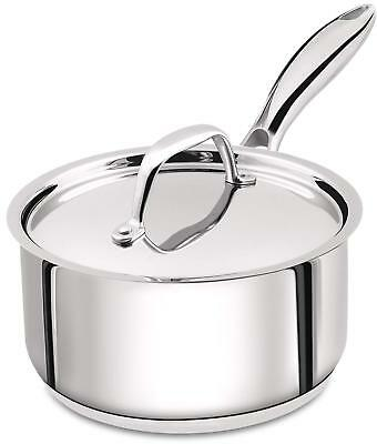 Saucepan Induction Compatible 2 Quart Premium Stainless Steel with Lid