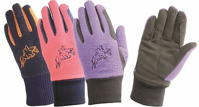 Hy5 Children's Winter Two Tone Equestrian Horse Riding Gloves 10713P