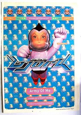 BJORK 1995 Poster Ad ARMY OF ME post