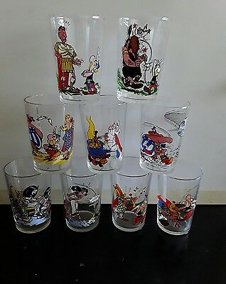 Lot De 6 Verres Asterix 1968