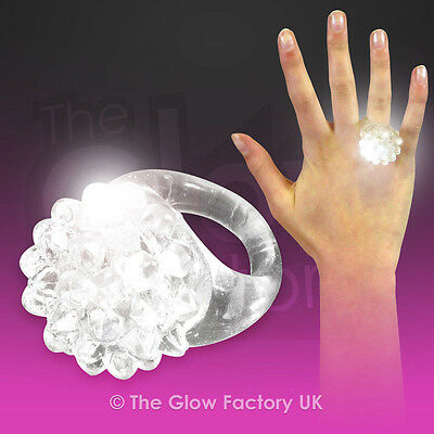 Light Up LED Ring Flashing Jelly White Rings