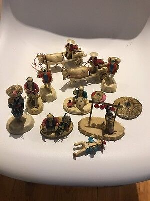 1940s Vintage Celluloid Figurines. RARE.