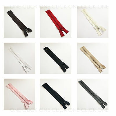 "Size 3 Nylon Closed End Autolock Zips High Quality 4"" - 18"" Size High Quality"