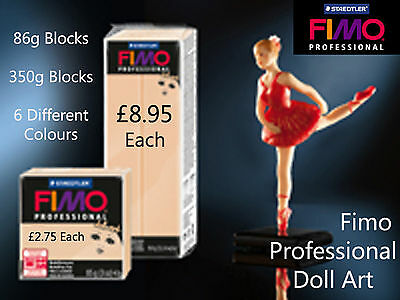 FIMO Professional Doll Modelling Oven Baked Polymer Clay Craft Art 350g Blocks
