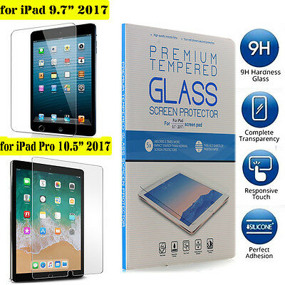"""Apple New iPad 2017 9.7""""/ Pro 10.5"""" 2017 9H Tempered Glass Film Screen Protector"""