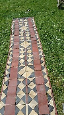 Reclaimed Original Victorian- Minton Hollins & Co. Floor Tiles Blk,Red,yellow