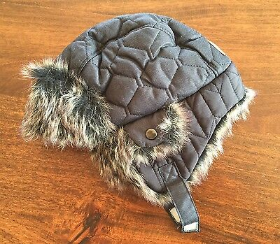 Next Navy Blue Winter Hat 12-24 Month 1-2 Years Children's Boys Toddler