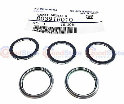 Genuine Subaru Sump Plug Washer Set Of 5 803916010
