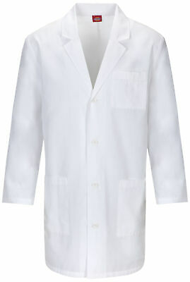"Dickies EDS 83402AB Unisex 37"" Unisex Lab Coat Medical Uniforms Scrubs"