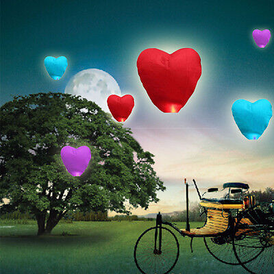 New Heart Shape Chinese KongMing Wishing Lamp Fly Sky Lanterns Fire for party