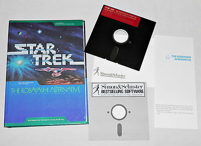 1985 STAR TREK Original KOBAYASHI ALTERNATIVE Game IBM PC Computer SOFTWARE Vtg