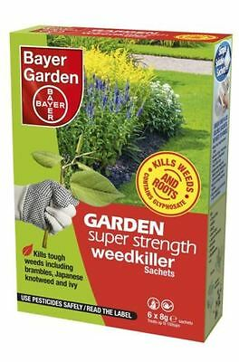 Bayer Super Strength Glyphosate Weedkiller - Very Strong Weed Killer 1-30 Sachet