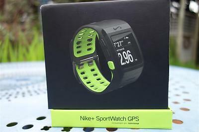 Nike+ Sport Watch GPS TomTom,Anthracite/Volt Yellow,Foot Sensor,Boxed & Complete