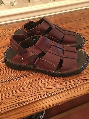 Men'sNUNN BUSH LEATHER SANDALS SIZE10M In VERY GOOD CONDITION EXPANDING BACK