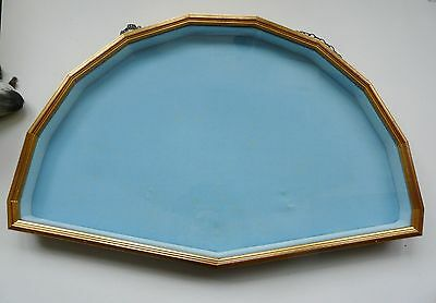 Display case- antique fans- velvet cushion 160 degree stick length 31 cm approx