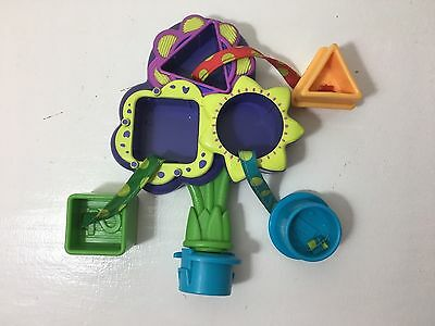 Evenflo Exersaucer Replacement Switch A Roo 123 Shape Sorter Flowers Mirror Toy